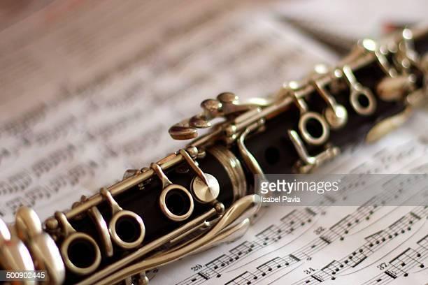 Clarinet on music notation