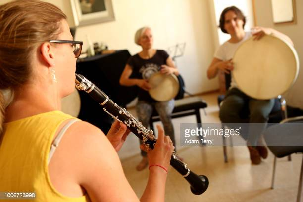 Clarinettist rehearses during Yiddish Summer Weimar on July 27, 2018 in Weimar, Germany. The annual five-week summer institute and festival,...