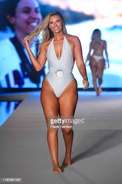 Clarissa Bowers walks the runway during the 2019 Sports Illustrated Swimsuit Runway Show During Miami Swim Week At W South Beach Runway at WET...