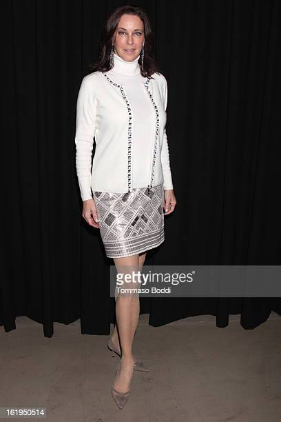 Clarissa Burt attends the 8th annual Los Angeles Italia Film Fashion and Art Festival opening night ceremony held at Mann Chinese 6 on February 17...