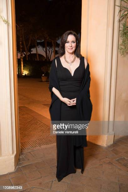 Clarissa Burt attends the wedding of Earl Vittorio Palazzi Trivelli And Isabelle Adriani on February 22 2020 in Rome Italy