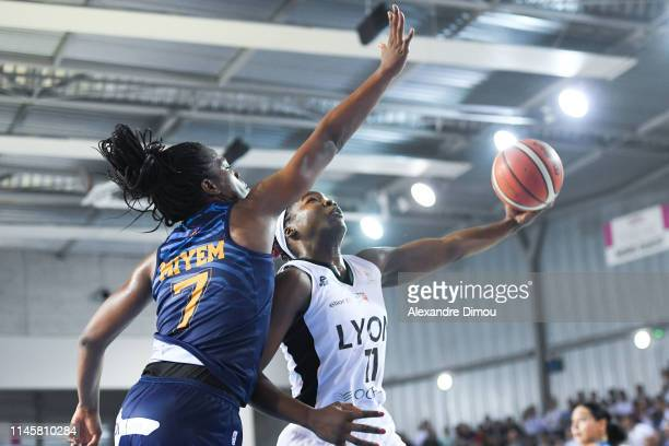Clarissa Dos Santos of Lyon and Endie Myem of Montpellier during the Women's Final match between Lyon Villeurbanne ASVEL and Montpellier Lattes on...