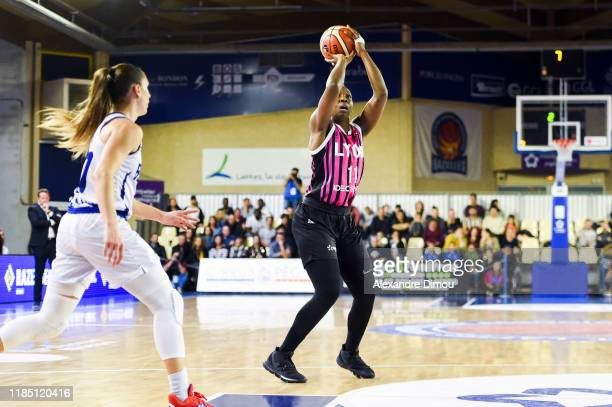 Clarissa DOS SANTOS of Lyon during the Euroleague Women Basketball match on Group B between Montpellier and Lyon ASVEL on November 27 2019 in Lattes...