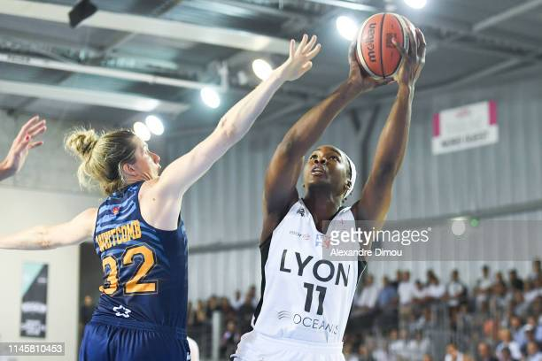 Clarissa Dos Santos of Lyon during the Women's Final match between Lyon Villeurbanne ASVEL and Montpellier Lattes on May 23 2019 in Villeurbanne...
