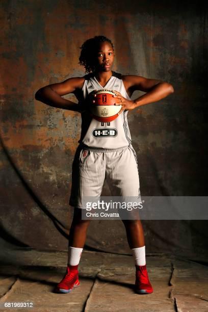 Clarissa dos Santos of the San Antonio Stars poses for portraits during 2017 WNBA Media Day on May 10 2017 at the ATT Center in San Antonio Texas...