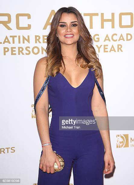 Clarissa Molina arrives at the 2016 Latin GRAMMY Person of The Year honoring Marc Anthony held at MGM Grand Garden Arena on November 16 2016 in Las...