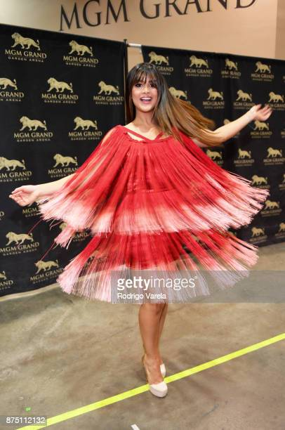 Clarissa Molina attends The 18th Annual Latin Grammy Awards at MGM Grand Garden Arena on November 16 2017 in Las Vegas Nevada