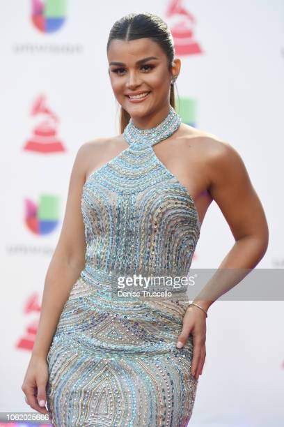 Clarissa Molina attends the 19th annual Latin GRAMMY Awards at MGM Grand Garden Arena on November 15 2018 in Las Vegas Nevada