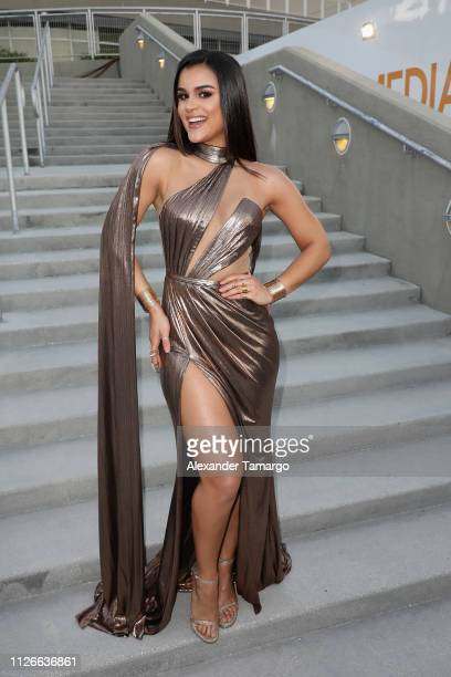 Clarissa Molina attends Univision's 31st Edition Of Premio Lo Nuestro A La Musica Latin at American Airlines Arena on February 21 2019 in Miami...
