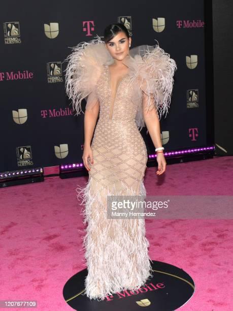 Clarissa Molina attends Univision's Premio Lo Nuestro 2020 at AmericanAirlines Arena on February 20 2020 in Miami Florida