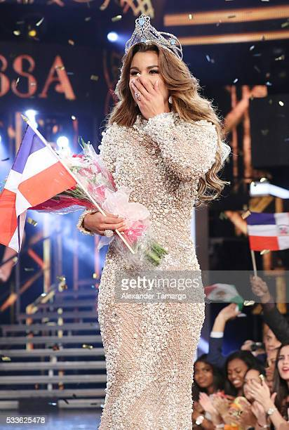 Clarissa Molina is crowned the winner during the Nuestra Belleza Latina Grand Finale at Univision Studios on May 22 2016 in Miami Florida
