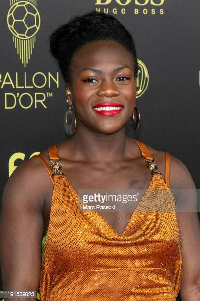 Clarisse Agbegnenou attends the photocall during the Ballon D'Or Ceremony at Theatre Du Chatelet on December 02 2019 in Paris France
