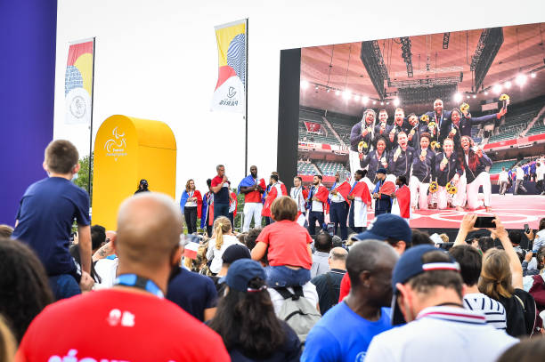 FRA: French Athlete back from the Tokyo 2020 Olympic Games - Fan Zone