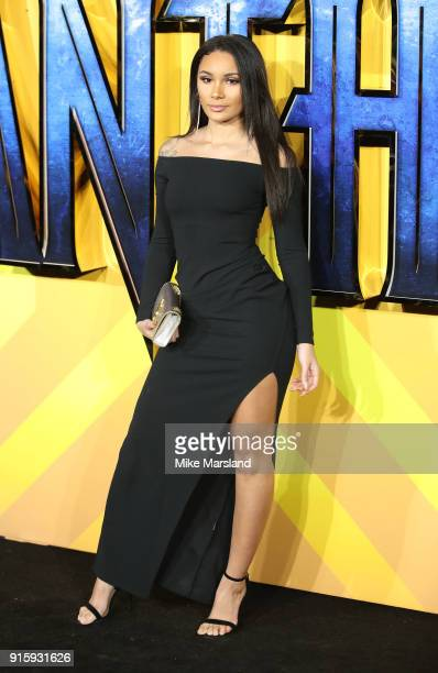 Clarisse Juliette attends the European Premiere of 'Black Panther' at Eventim Apollo on February 8 2018 in London England