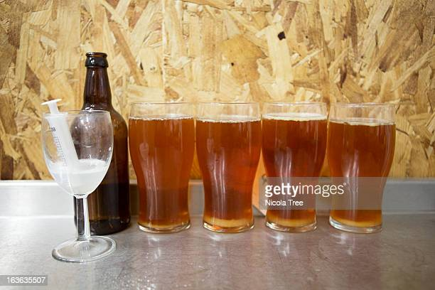 Clarity of beer testing different levels of fining