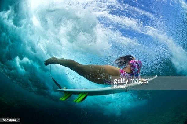Clarity underwater surfer
