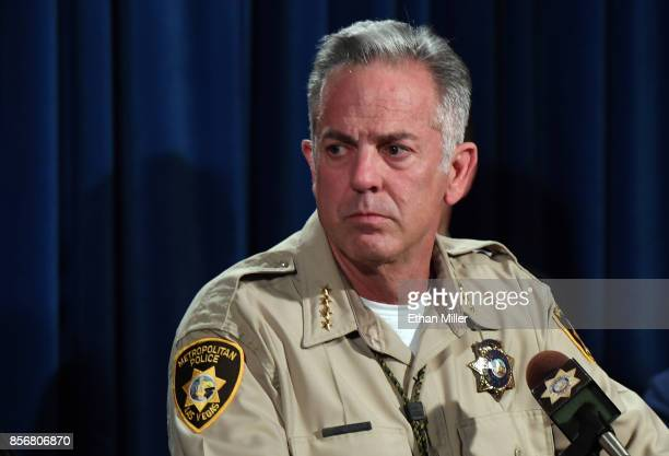 Clark County Sheriff Joe Lombardo speaks during a news conference at the Las Vegas Metropolitan Police Department headquarters to brief members of...