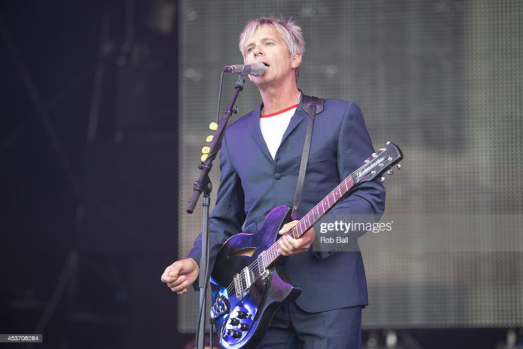 Clark Datchler of Johnny Hates Jazz performs on stage at Rewind South 80s Music Festival at Temple Island Meadows on August 16, 2014 in Henley-on-Thames, United Kingdom.