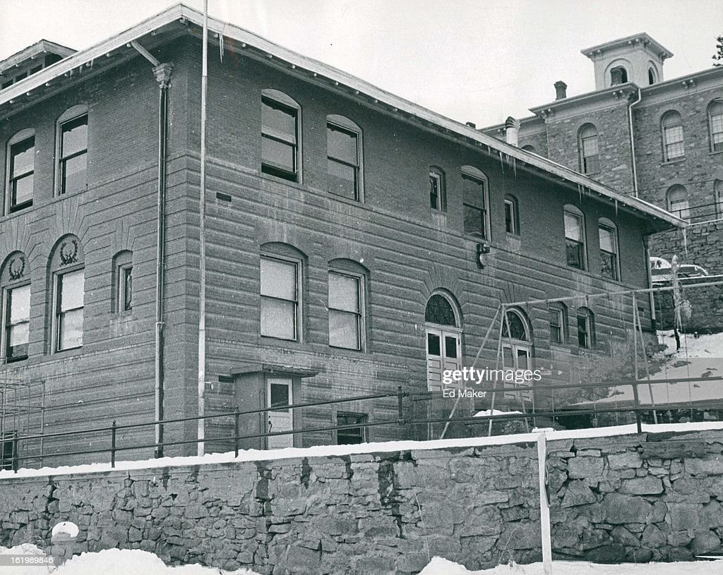 FEB 22 1966, FEB 23 1966; Clark Elementary School, Foreground, was Built in 1900, Gilpin County High : News Photo