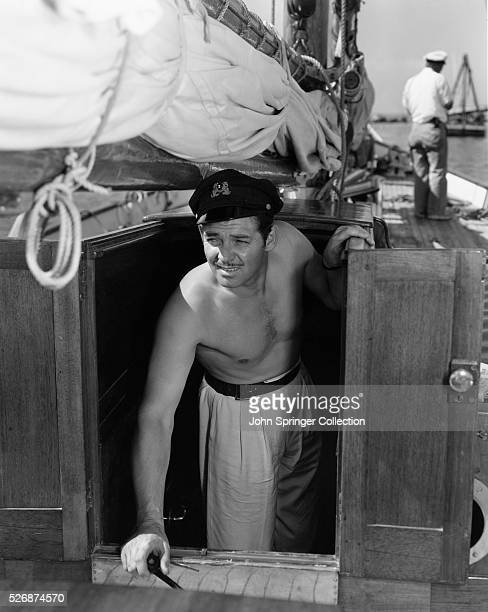 Clark Gable Aboard a Schooner