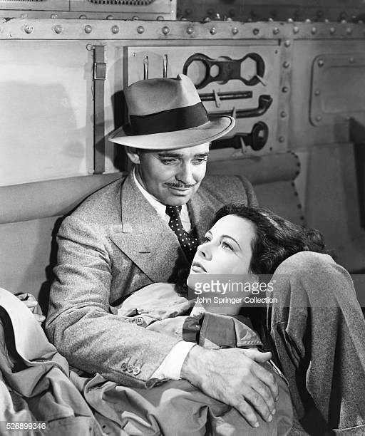 Clark Gable and Hedy Lamarr in Comrade X