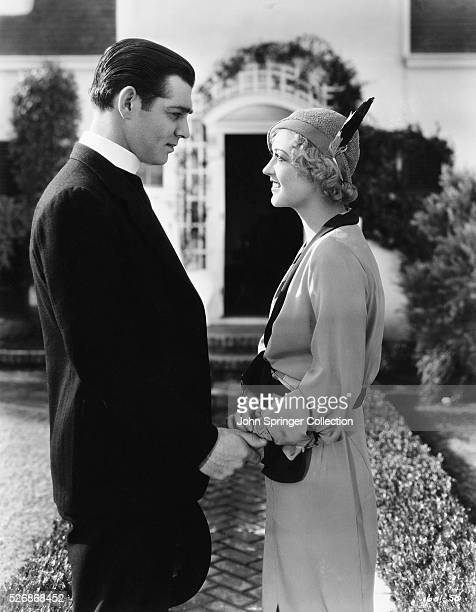 Clark Gable and Marion Davies play the respective roles of Reverend John Hartley and Polly Fisher in the 1932 drama Polly of the Circus