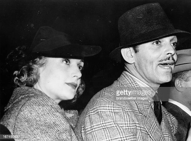 Clark Gable and wife Carol Lombard 1936 Photograph Clark Gable und Ehefrau Carol Lombard 1936 Photographie
