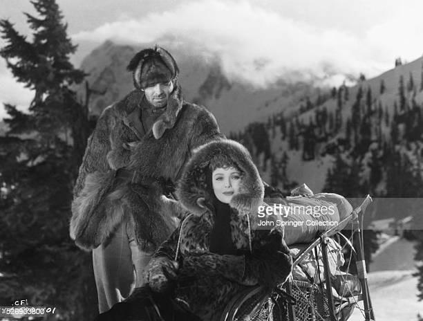 Clark Gable as Jack Thornton and Loretta Young as Claire Blake in 1935 film adaptation of the Jack London novel The Call of the Wild