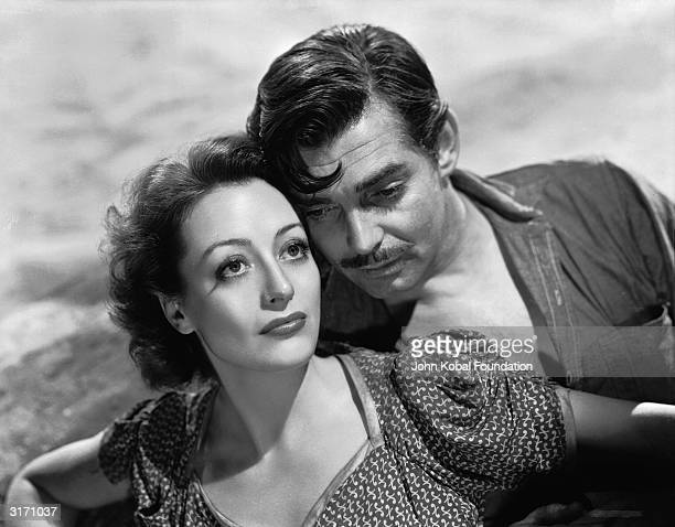 Clark Gable as Verne and Joan Crawford as Julie in a scene from 'Strange Cargo' directed by Frank Borzage