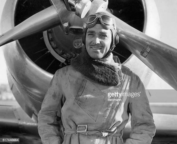 Clark Gable plays the title role of Jim Lane the world's greatest test pilot in MGM's 1938 'Test Pilot' Gable is costarred with Myrna Loy and Spencer...