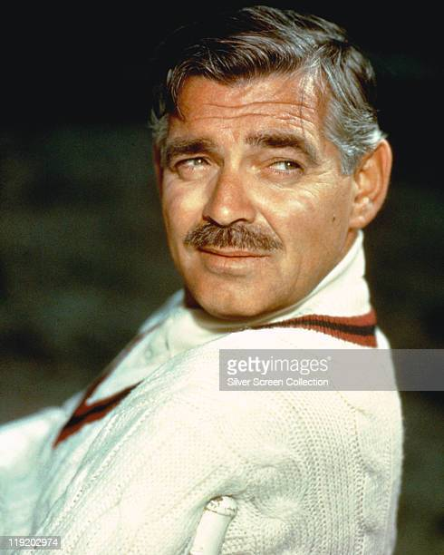 Clark Gable US actor looking over his shoulder circa 1960