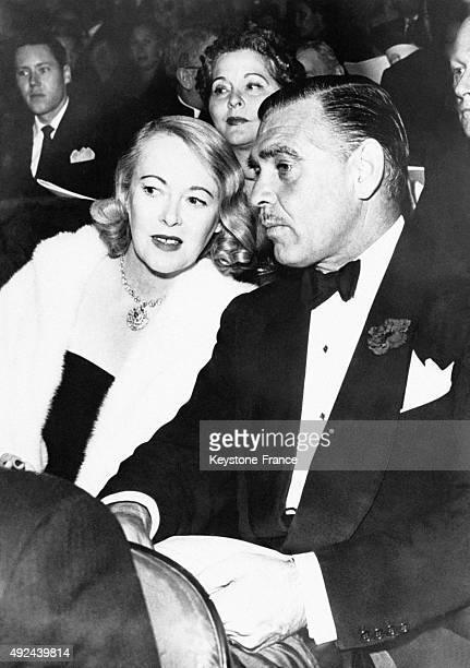 Clark Gable with his wife Sylvia Ashley during a charity gala for St John's Hospital circa 1950 in Hollywood California United States