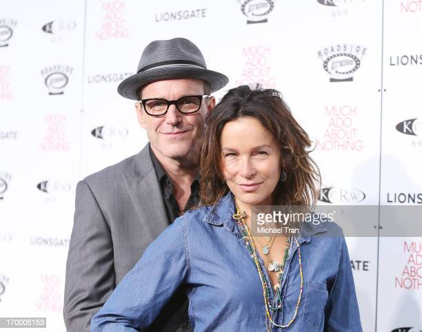 """Clark Gregg and Jennifer Grey arrive at the Los Angeles screening of """"Much Ado About Nothing"""" held at Oscars Outdoors on June 5, 2013 in Hollywood,..."""
