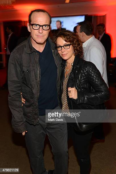 Clark Gregg and Jennifer Grey attend the '2014 Tribeca Film Festival LA Kickoff Reception' held at the Beverly Hilton Hotel on March 17 2014 in...