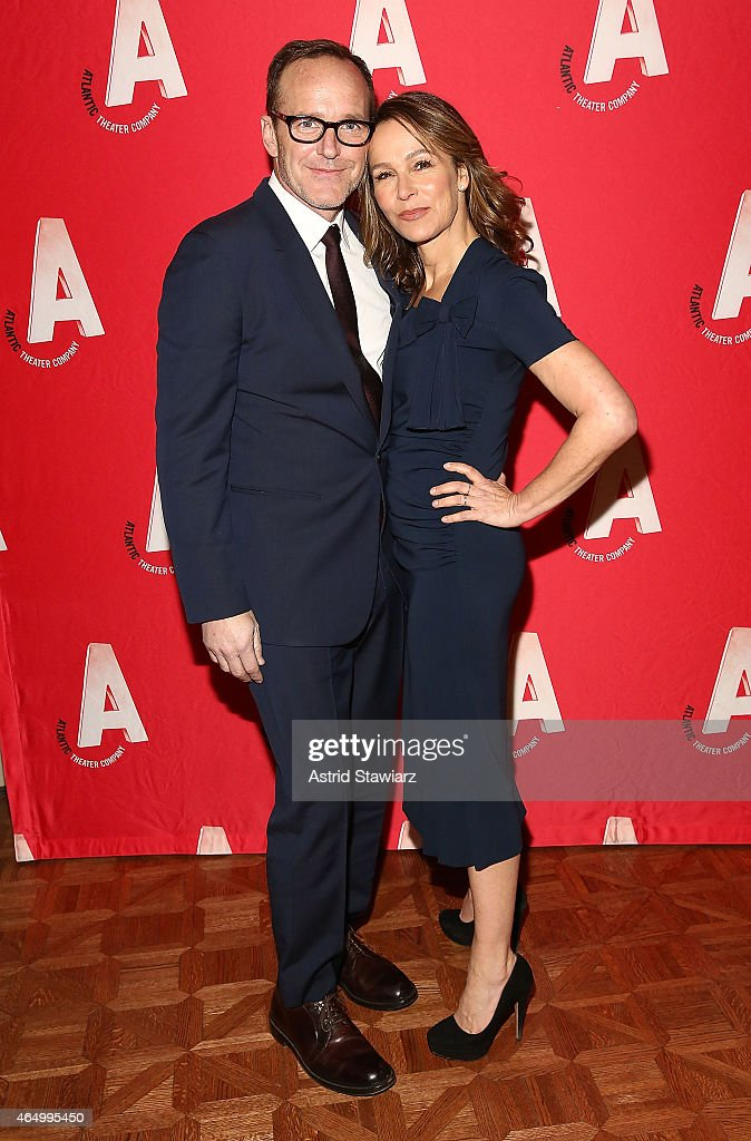Clark Gregg and Jennifer Grey attend the Atlantic Theater Company 30th Anniversary Gala at The Pierre Hotel on March 2, 2015 in New York City.