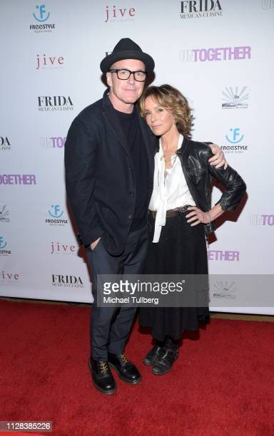 Clark Gregg and Jennifer Grey attend the Los Angeles premiere of Untogether at Frida Restaurant on February 08 2019 in Sherman Oaks California
