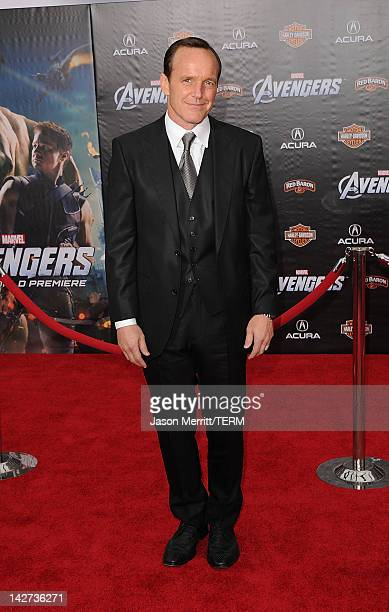 Clark Gregg arrives at the premiere of Marvel Studios' 'The Avengers' at the El Capitan Theatre on April 11 2012 in Hollywood California