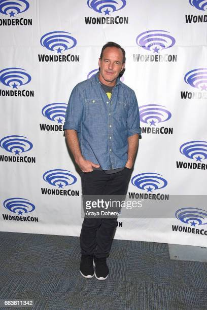 Clark Gregg attends the Agents of SHIELD press panel at day two of WonderCon 2017 the at Anaheim Convention Center on April 1 2017 in Anaheim...