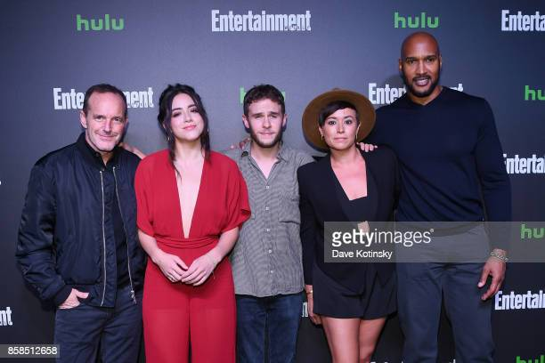 Clark Gregg Chloe Bennet Ian De Caestecker Briana Venskus and Henry Simmons attend Hulu's New York Comic Con After Party at The Lobster Club on...