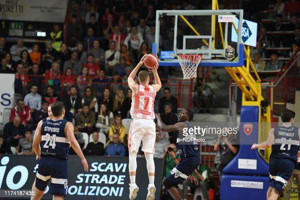 Clark Jason of Openjobmetis in action during the Italy Lega Basket of Serie A , Openjobmetis Varese - Fortitudo Bologna on 6 October 2019 in Varese...
