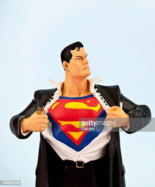 clark kent becomes superman - superman stock pictures, royalty-free photos & images
