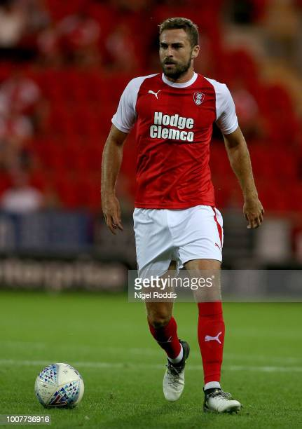 Clark Robertson of Rotherham United during the at PreSeason Friendly match between Rotherham United and Cardiff City at The New York Stadium on July...