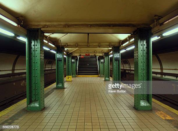 clark street subway - new york city subway stock pictures, royalty-free photos & images