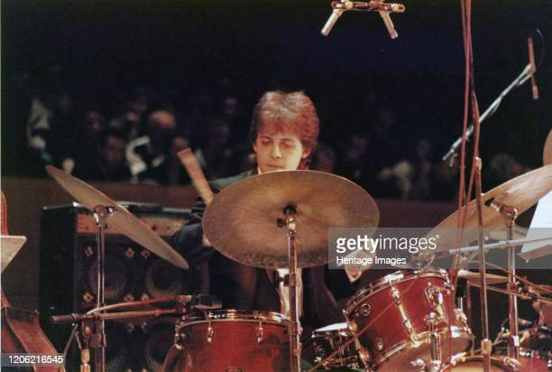 Clark Tracey, Edinburgh Jazz Festival, 1987. Artist Brian Foskett.
