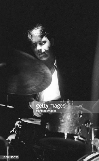 Clark Tracey, Ronnie Scott's Jazz Club, Soho, London, Nov 1989. Artist Brian O'Connor.
