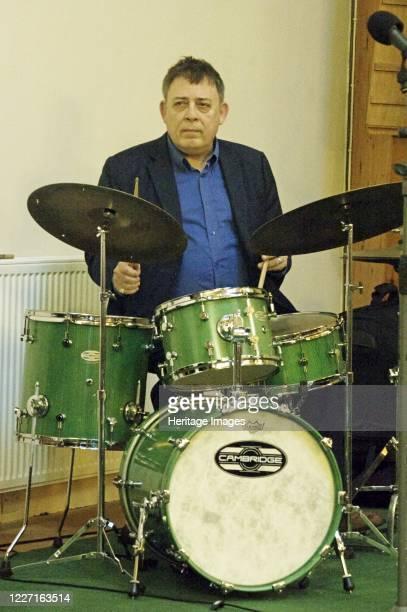 Clark Tracey, Simon Spillett Quartet, National Jazz Archive fundraising concert, Loughton, Essex, 15 Feb 2020. Artist Brian O'Connor.