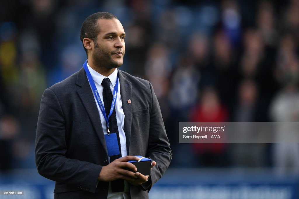 Clarke Carlisle former Queens Park Rangers player during the Sky Bet Championship match between Queens Park Rangers and Wolverhampton at Loftus Road on October 28, 2017 in London, England.