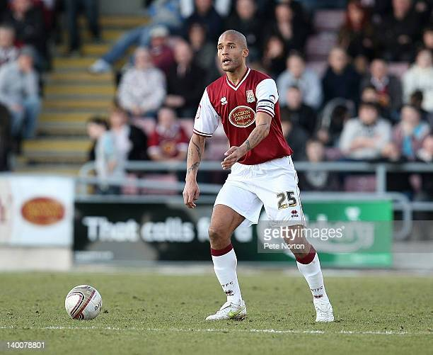 Clarke Carlisle of Northampton Town in action during the npower League Two match between Northampton Town and Port Vale at Sixfields Stadium on...