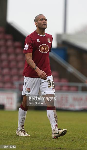 Clarke Carlisle of Northampton Town in action during the npower League Two match between Northampton Town and Aldershot Town at Sixfields Stadium on...