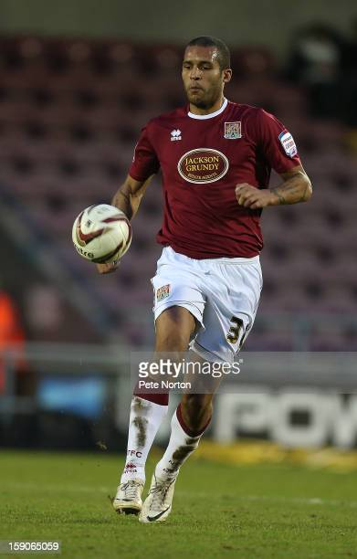 Clarke Carlisle of Northampton Town in action during the npower League Two match between Northampton Town and Fleetwood Town at Sixfields Stadium on...